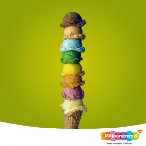 Het Miljoenenspel ijsje!